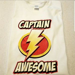 """BRAND NEW """" CAPTAIN AWESOME """" TEE"""